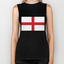St. George's Cross (Flag of England) - Authentic version to scale and color Biker Tank