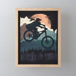 Fox Girl Biker Framed Mini Art Print