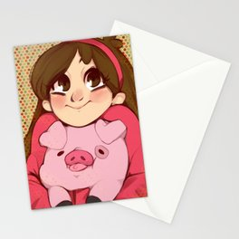 Mabel and Waddles Stationery Cards
