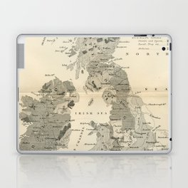 Vintage and Retro Geological Map British Isles Laptop & iPad Skin