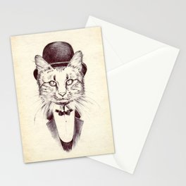 Hand drawn cat Stationery Cards
