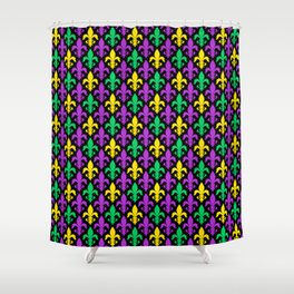 Mardi Gras Pattern | Funny Carnival Graphic Shower Curtain