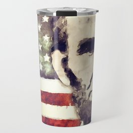 Patriot President Abraham Lincoln Travel Mug
