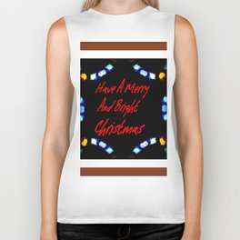 Have A Merry And Bright Christmas Biker Tank