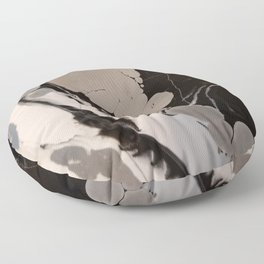 Black and silver marble Floor Pillow
