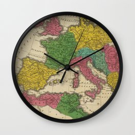Vintage Map of The Roman Empire (1831) Wall Clock