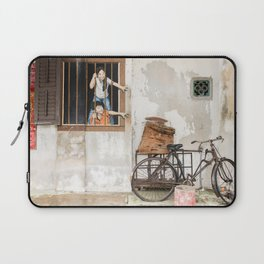 I Want Bao! George Town, Penang Street Art Laptop Sleeve