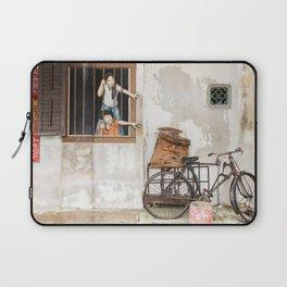 I Want Bao! George Town, Penang Street Art Laptop Sleeve