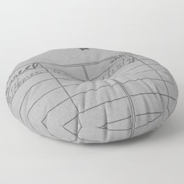 Library Card 797 Gray Floor Pillow