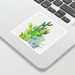 Cactus Garden II Sticker