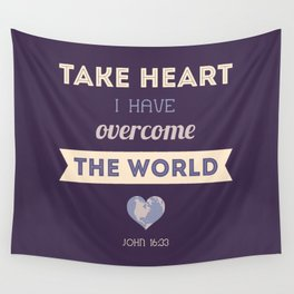 I Have Overcome the World Wall Tapestry