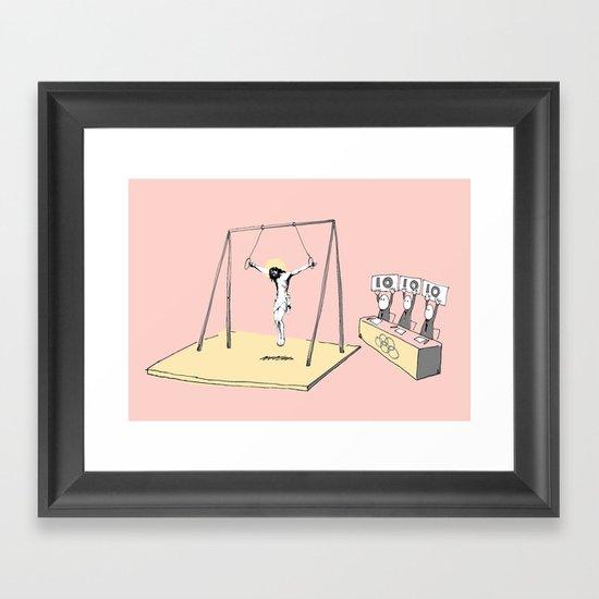 Jesus goes for gold! Framed Art Print