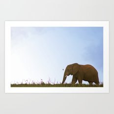 Elephant Walk Art Print