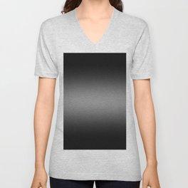 Black to Gray Horizontal Bilinear Gradient Unisex V-Neck