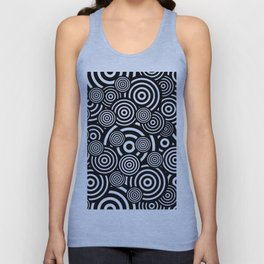 BLACK AND WHITE BULLSEYE ABSTRACT Unisex Tank Top