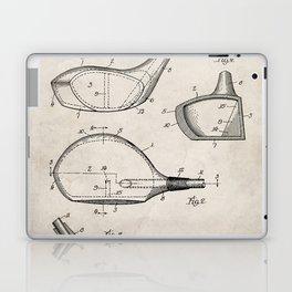 Golf Driver Patent - Golf Art - Antique Laptop & iPad Skin