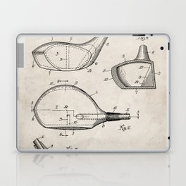 Golf Driver Patent - Golf Art - Antique Laptop & iPad Skin