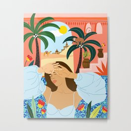 'Cause a little bit of summer is what the whole year is all about Metal Print