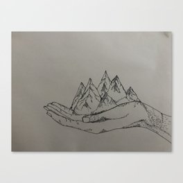 Mountain Hands Canvas Print