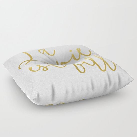 La vie est belle #society6 #typography #buyart Floor Pillow by 83 Oranges Society6