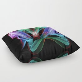 9109 Spirit Work by Chris Maher Unique Sensual Photographs of Smoke, Fire and Water Floor Pillow