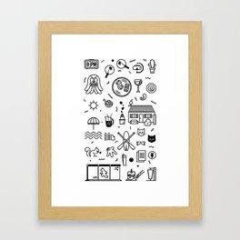 Summer Vectors Framed Art Print