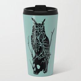 Owl and Skull Travel Mug