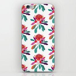 Waratah Pattern; Botanical; Floral Print; Australian Native Plant iPhone Skin