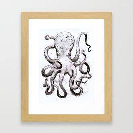 Inky Octopus Framed Art Print