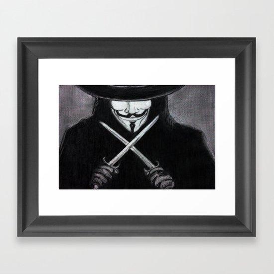 V for Vendetta  (by Esin )5 Framed Art Print