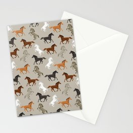 Horse Pattern | Horseback Riding Pony Stallion Stationery Cards