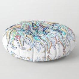 Blue Ethnic Lion Floor Pillow