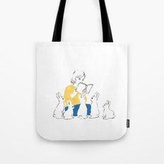 School of rabbits Tote Bag
