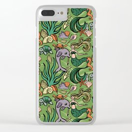 """Seaweed Siren"" Pattern by Mellie Test Clear iPhone Case"