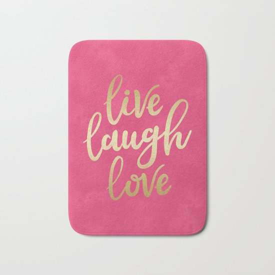 Live Laugh Love Bath Mat