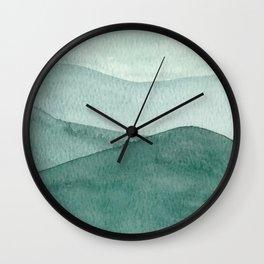 Green Mountain Range Wall Clock