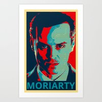 moriarty Art Prints featuring MORIARTY by Pop Atelier