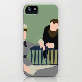 Flat Graphic: Manet- Dans la Serre iPhone Case
