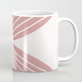 Soft Pink Minimal Fall Leaf Coffee Mug