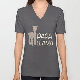 Papa Llama Cute Alpaca Farmer Peruvian Pet Unisex V-Neck