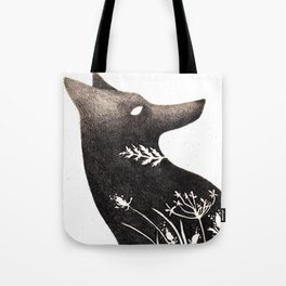Wolf Flower Tote Bag