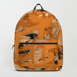 Orange & Taupe Abstract Backpack