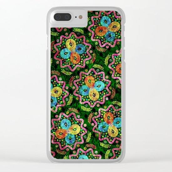 Flower Pattern XIX Clear iPhone Case