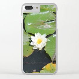 White Water-Lily Clear iPhone Case