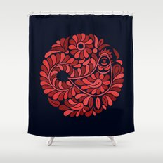 Folk Rooster Shower Curtain