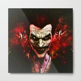 joker red Metal Print