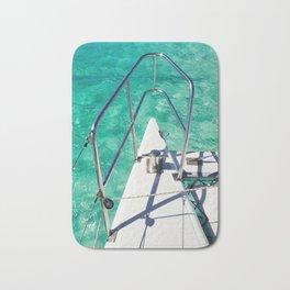 Catamaran green water Bath Mat