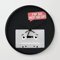 cassette Wall Clocks featuring Cassette by Dylan Morang