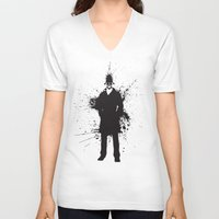 watchmen V-neck T-shirts featuring WATCHMEN - RORSCHACH (YELLOW EDITION) by Zorio