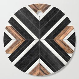 Urban Tribal Pattern No.1 - Concrete and Wood Cutting Board